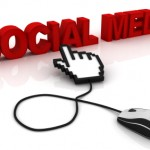 Mouse cursor pointing at the words 'social media'