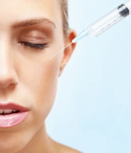 Botox injectable treatment to the face