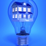House inside a lightbulb