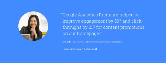 The quote from the new Analytics homepage.