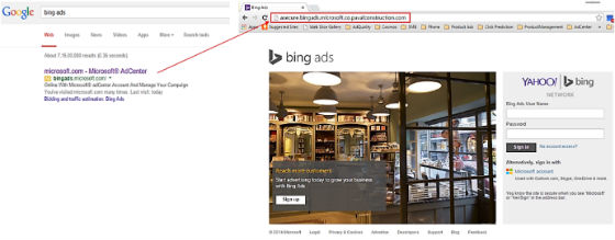 Bing Ads Phishing